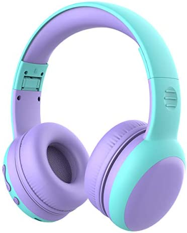 gorsun Bluetooth Kids Headphones with 85dB Limited Volume, Children's Wireless Bluetooth Headphones, Foldable Bluetooth Stereo Over-Ear Kids headsets – Purple