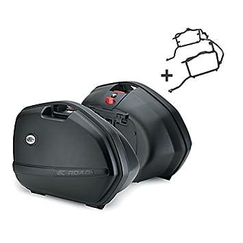 Juego de maletas laterales Set Honda VFR 1200 F 10-16 Kappa Monokey K33N negro: Amazon.es: Coche y moto