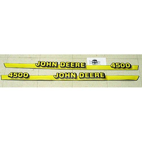 John Deere 4500 hood Decals fit 4500 compact tractor M135382, M135383
