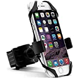 Hakea Bike Mount / Motorcycle Handle-bar Mobile Phone Holder - 360° Rotatable & Adjustable Head - Secure Grip for iPhone X / XS / XS Max / XR / 8 / 8 Plus / 7 / 7 Plus / 6S / 6S Plus / 6 / 6 Plus - Galaxy Note / S9 / S9+ / S8 / S8+ / On5 / S7 Edge / S7 - LG V10 - GPS - Black & Red
