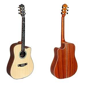 NUYI Guitarra Acústica Profesional De Cuerdas De Acero Spruce De ...