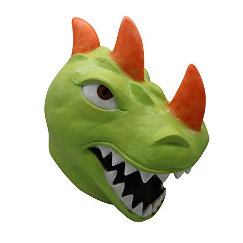 Halloween Scary Mask Toy, Sacow Cosplay Funny Dinosaur Mask Melting Face Latex Costume Halloween Game Mask Toy (C) ()