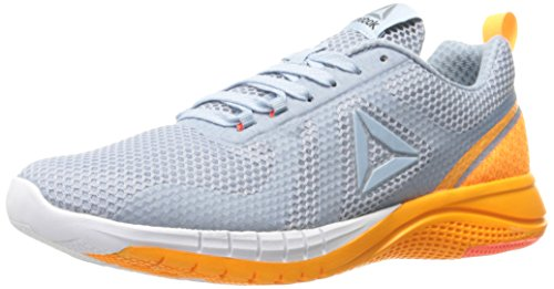 Spark Footwear (Reebok Women's Print 2.0 Running Shoe, Gable Grey/Fire Spark/White/Pure Silver, 9 M US)