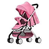 Soft Stroller 3-in-1 with Bassinet for Baby, Toddler's Five Point Safety Reversible Seat, Swivel Air-Inflated Wheels, Unique Shock Absorbing System and Great Storage Basket (Travel System),E
