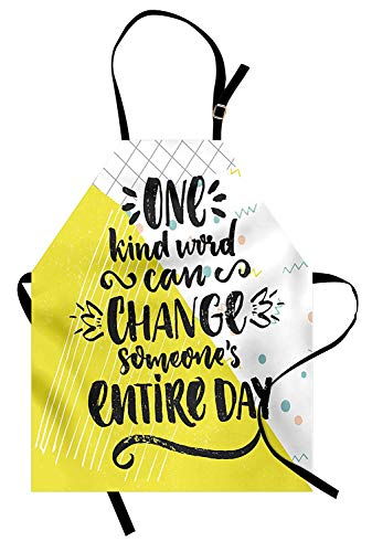 Quote Aprons, Adjustable Bib Kitchen Cooking Apron for