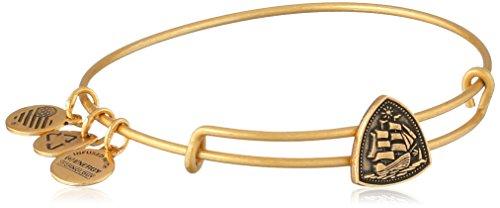 "Price comparison product image Alex and Ani ""Coastal Odyssey"" Rafaelian Gold Steady Vessel Slider Bangle Bracelet"