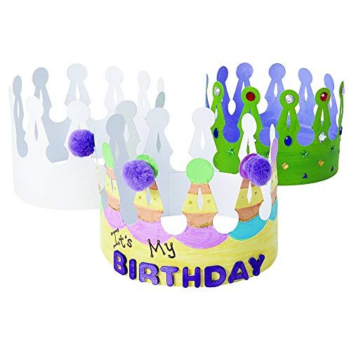 (Colorations Royalty Decorate Your Own Crowns Arts and Crafts Activity (Pack of 24))