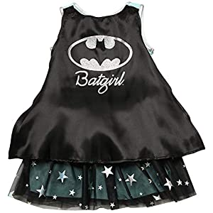 Dc Comics Costume Dress Up Sequin Logo Cape Girls Ages 4 12 Batgirl Or Supergirl