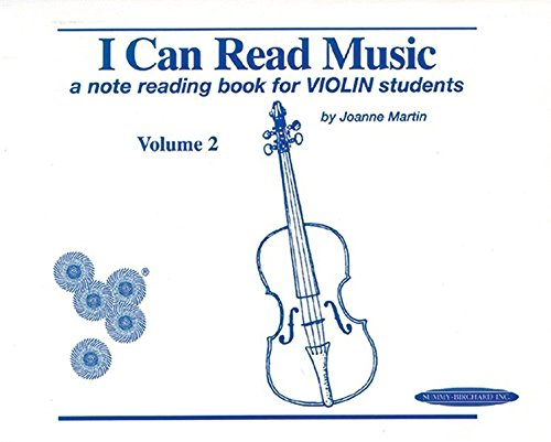I Can Read Music, Vol 2: A note reading book for VIOLIN students (Note Reading Book)
