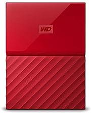 Faites des économies sur WD - My Passport - Disque dur externe portable USB 3.0 avec sauvegarde automatique et sécurisation par mot de passe - 3To, Rouge et plus encore