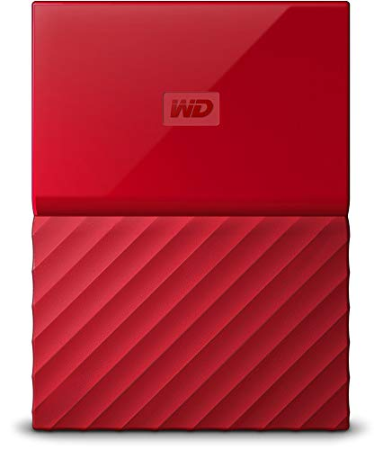 WD 4TB Red My Passport  Portable External Hard Drive - USB 3.0 - WDBYFT0040BRD-WESN
