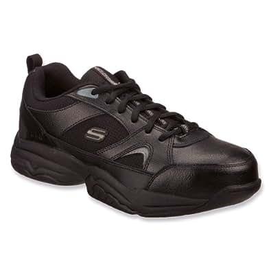 SKECHERS WORK Men's Felix-Hawk Ridge Slip Resistant Composite Toe Sneaker (Black 8.5 M)