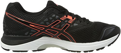 Femme 9 Running Chaussures Asics Noir de Pulse Coral Flash Carbon Gel Black 7qnYa