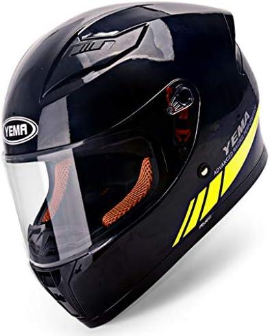 NJ ヘルメット- オートバイヘルメット男性フルヘルメットカバーフォーシーズンアンチフォグヘルメット (色 : Bright black, サイズ さいず : 36x25x26cm)
