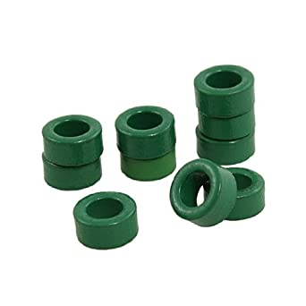 DealMux a12022900ux0330 10 Pieza Inductor Bobinas verdes toroide de ferrita Núcleos de 10 mm x 6 mm x 5 mm: Amazon.es: Industria, empresas y ciencia
