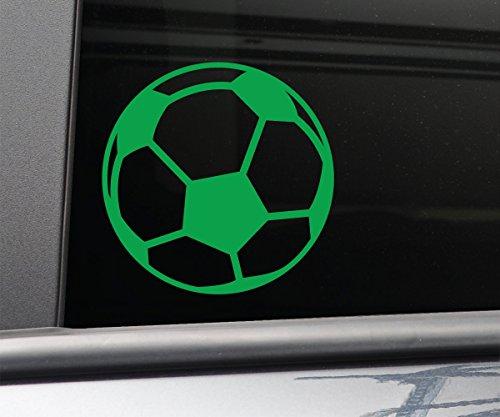Soccer Ball Vinyl Decal Laptop Car Truck Bumper Window Sticker - Lime Green