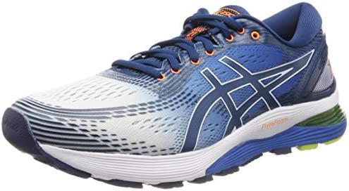 Asics Gel-nimbus 21 Running Shoes 9 D(M) US White Lake Drive: Amazon.com