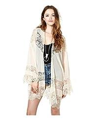 Women Gypsy Vintage Hippie Boho Kimono Lace Cardigan Crochet Jacket Blouse Tops