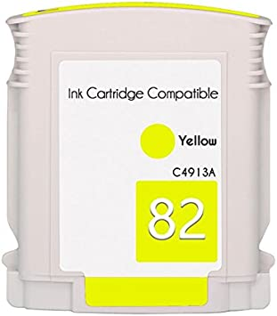 Mr Cartridge Cartucho Compatible de Tinta para Plotter HP 82 C4913 a Yellow: Amazon.es: Electrónica