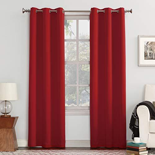 - Sun Zero Easton Blackout Energy Efficient Grommet Curtain Panel, 40