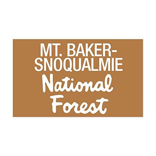 Baker Sticker - CafePress - Mt. Baker-Snoqualmie (Sign) N Sticker (Rectangular - Rectangle Bumper Sticker Car Decal
