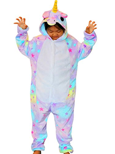 Kids Unicorn Costume Children Onesie Christmas Pajamas Teens Girls Animal Onsie (Onsies For Teens)