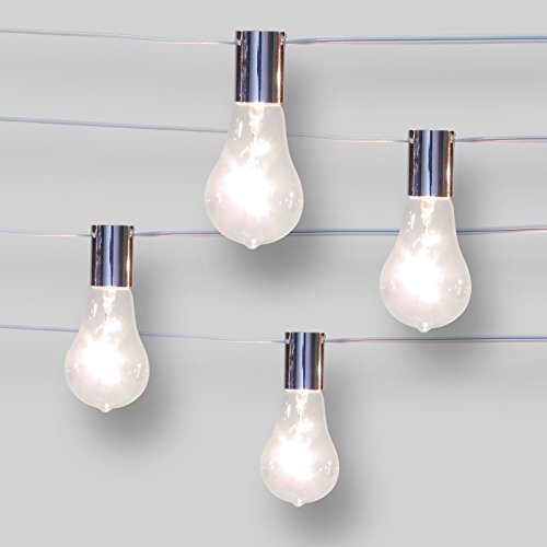Smith & Hawken 10ct String Lights Spiral Filament G50 - Clear Bulbs ()