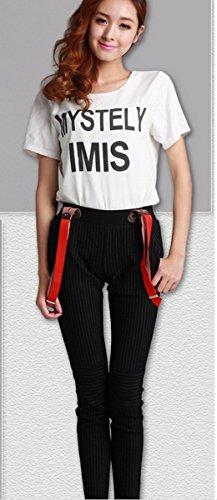 ajustables mujeres pantalones correas forma de bot las Y Estiramiento fwqxgUBB