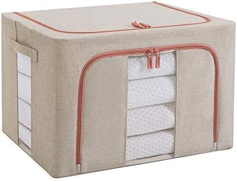 Cajas plegables y impermeables para guardar ropa, con marco de aluminio sólido y ventanas claras (beige) de Teluos.: Amazon.es: Hogar