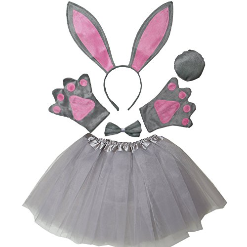 Kirei Sui Kids Easter Bunny Costume Tutu Set Gray -