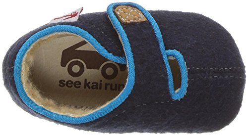See Kai Run Boys' Cruz Shearling Slipper, Navy, 2 M US Infant - Image 8