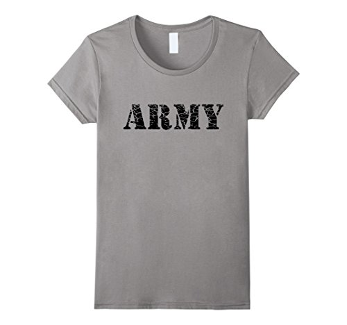 Womens Army Physical Fitness Gym Used Look Men Women Kids T Shirt Small Slate - Army Woman Costume Ideas