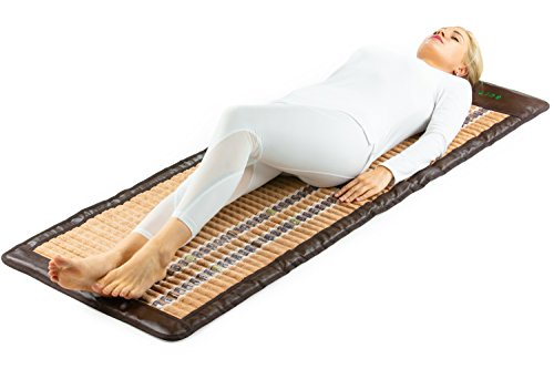 HL HEALTHYLINE - Far Infrared Amethyst Mat - 72inL x 24inW - Therapy Mat - Adjustable Temp - Auto Shut-Off - No EMF - (Soft and Flexible) (Shiatsu Mat Massage Thai)