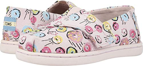 TOMS Kids Baby Girl's Alpargata (Toddler/Little Kid) Pink Donuts Print 4 M US -