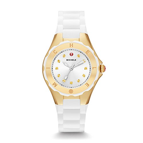 ly Bean Petite, White And Gold Woman's Watch ()