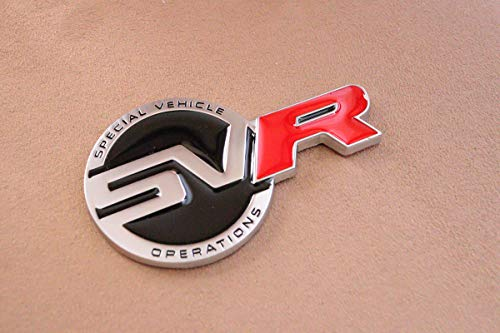 SVR badge emblem for Range Rover Autobiography Exterior accessory for rear trunk lid LR062324 OEM