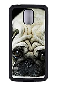 Generic Custom Picture Pug Phone Case Personalized TPU Rubber Snap On Skin Cover Back Case For Samsung Galaxy S5 I9600