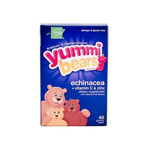 Vitamins Bears Yummi Echinacea (Yummi Bears echinacea with vitamin C and zinc natural immune support gummies - 40 ea)
