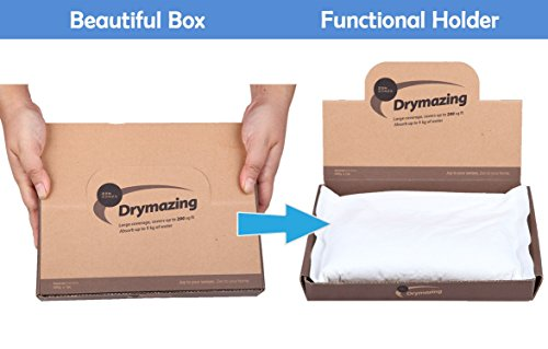 SALE Moisture Absorber, Odorless, Rid of Damp Air, Dehumidifying Bag 18oz absorbs 36oz Water. Perfect for Automobile, Basement, Car (Crystal Water Dehumidifier compare prices)