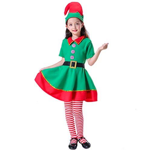 Women Girls Holidays Christmas Elf Costumes Set