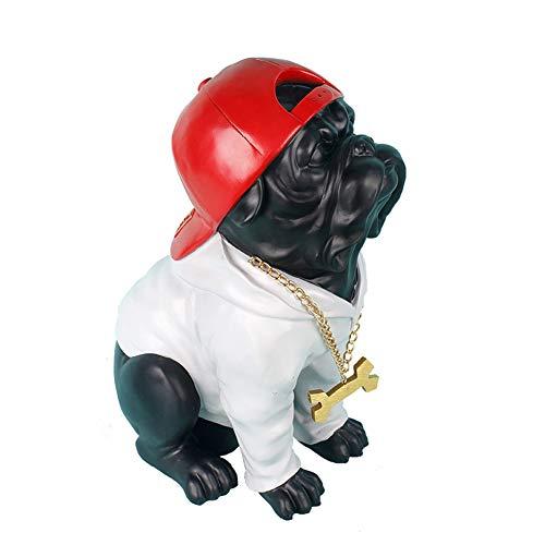 SDBRKYH Bulldog Statue, Dog Statue Model Creative English Bulldog Animal Decorative Sculpture Home Decor