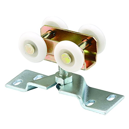 (Prime-Line Products N 7410 Pocket Door Roller Assembly, 1 in., Convex, Plastic Tires, Steel Bracket)