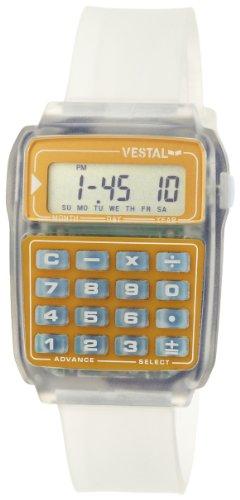 Vestal Unisex DAT005 Datamat Clear Gold Calculator Watch