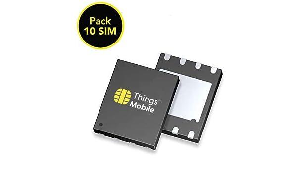 Pack de 10 tarjetas SIM on chip MFF2 Things Mobile de Prepago para ...