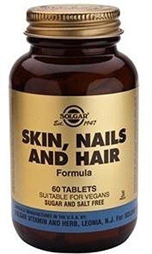 Pelo, Piel y Uñas (Hair, Skin and Nails) 60 comprimidos de Solgar: Amazon.es: Salud y cuidado personal