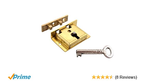 Left Side Replacement Combination Lock in Solid Brushed Brass