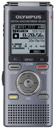 Olympus WS-822 GMT Voice Recorders with 4 GB Built-In-Memory by Olympus
