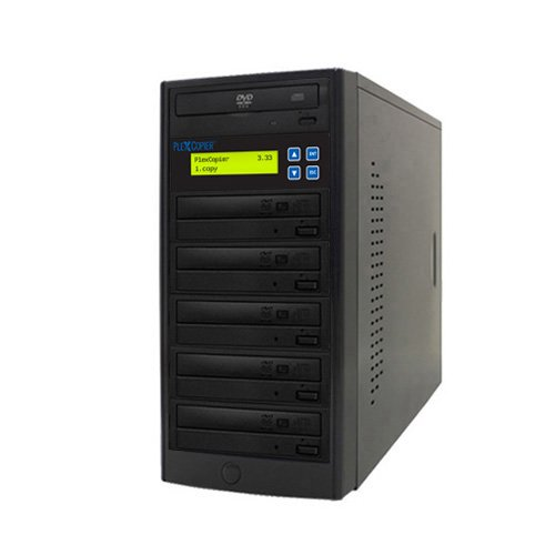 PlexCopier 24X SATA 1 to 5 CD DVD duplicator Writer Copier Tower (5 Target)