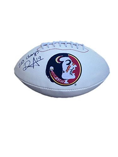 Roberto Aguayo Florida State Seminoles (2013 Champs) Signed Logo Football - JSA Certified - Autographed College Footballs