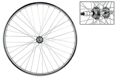 Wheel Master Rear Bicycle Wheel 26 x 1.75/2.125 36H, Steel Bolt On, Silver